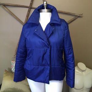 royal blue vera wang puffer jacket
